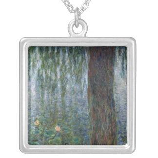 Wasserlilie-weinende Weiden Claudes Monet | Versilberte Kette