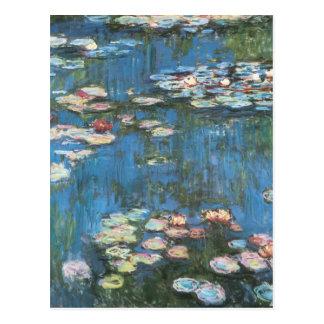 Wasserlilien durch Claude Monet, Vintager Postkarte