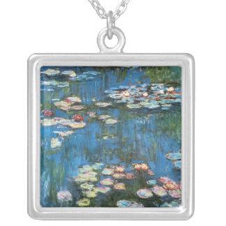 Wasserlilien durch Claude Monet, Vintager Versilberte Kette