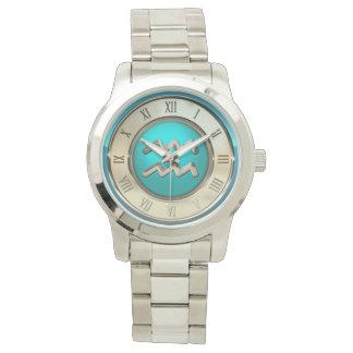 Wassermann-astrologisches Zeichen Uhr