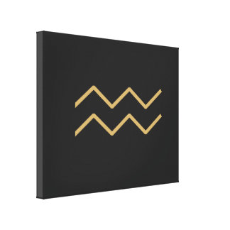 Wassermann-Tierkreis-Zeichen grundlegend Leinwanddruck