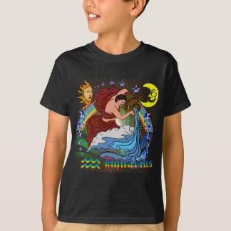 Wassermann-Vordere hintere Kinder T-Shirt