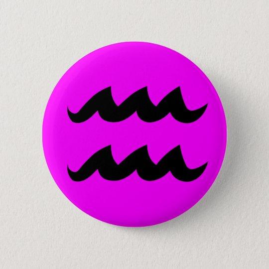 Wassermannmagentaknopf Runder Button 5,7 Cm