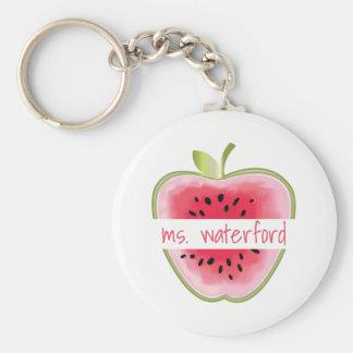 Wassermelone-Apple-Lehrer Standard Runder Schlüsselanhänger