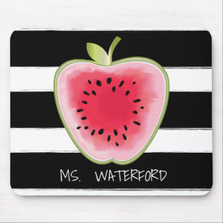 Wassermelone Apple Stripes personalisierten Lehrer Mauspad