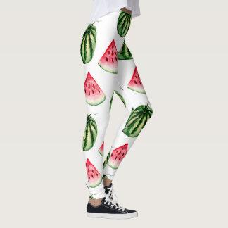 Wassermelone-Aquarell-Muster-Gamaschen Leggings