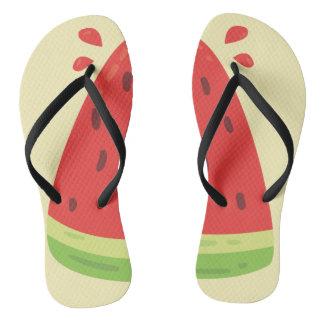 Wassermelone drehen Reinfall um Flip Flops