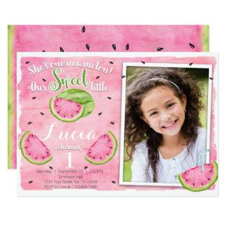 Wassermelone-Geburtstags-Einladung Karte