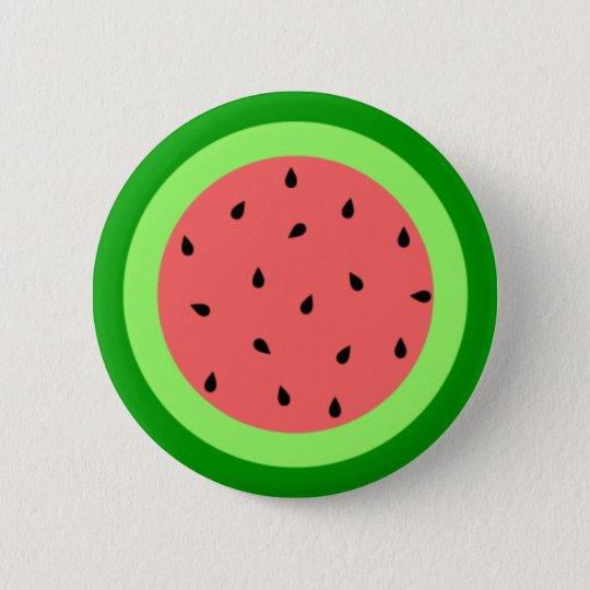 Wassermelone-Knopf Runder Button 5,1 Cm
