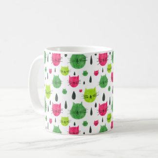 Wassermelone-Miezekatze Kaffeetasse
