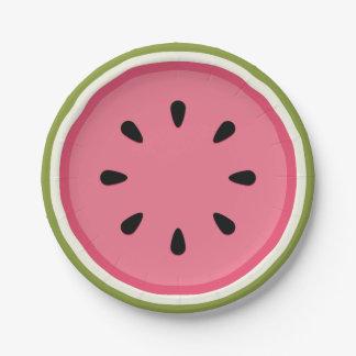 Wassermelone Pappteller