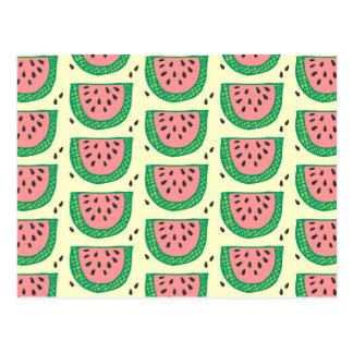 Wassermelone Postkarte