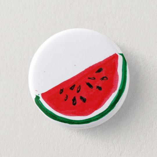 Wassermelone-Scheibe-Knopf Runder Button 3,2 Cm
