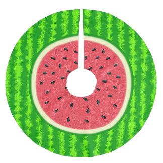 Wassermelone-Scheibe-Sommer-Frucht mit Rinde Polyester Weihnachtsbaumdecke