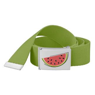 Wassermelone-Scheibegurt dunkelgrün Gürtel
