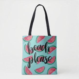 Wassermelone-Strand-bitte Tasche