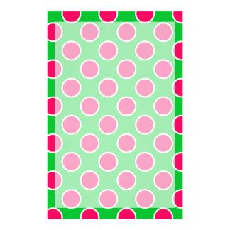 Wassermelone-Tupfen Briefpapier