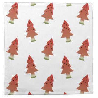 Wassermelone-Weihnachtsbaum-Stoff-Servietten Serviette