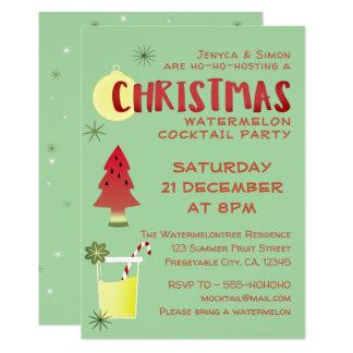 Wassermelone-Weihnachtscocktail-Party Einladung