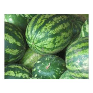 Wassermelonehintergrund 21,6 X 27,9 Cm Flyer