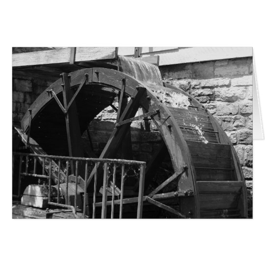 """""""Wassermühle"""" durch Larry Coressel Grußkarte"""