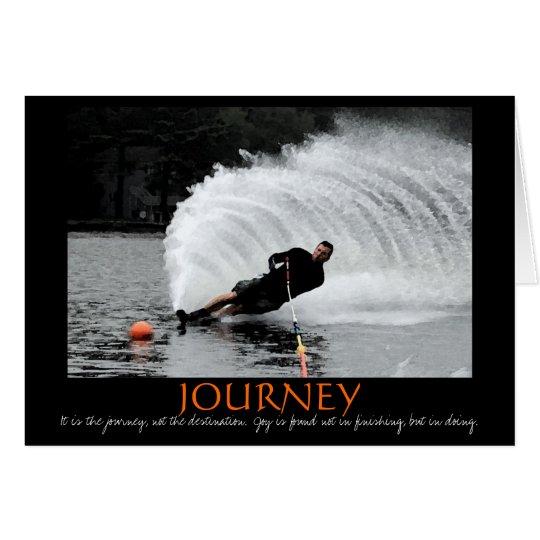 Wasserskifahrenmotivationskarte (B&W abgetönt) Grußkarte