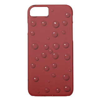 Wassertropfen auf Amarantrotsand iPhone 8/7 Hülle