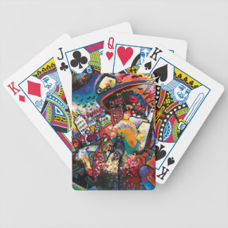 Wassily Kandinsky - Moskaucityscape-abstrakte Bicycle Spielkarten