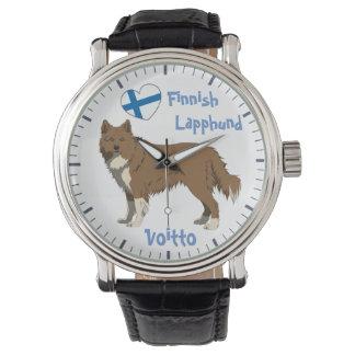 Watch Finnish Lapphund irish brown Lapinkoira Armbanduhr
