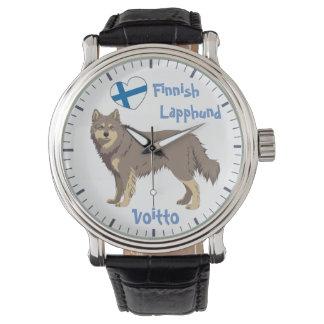 Watch Finnish Lapphund lilac Lapinkoira Armbanduhr
