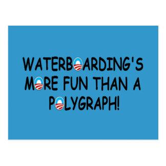 Waterboarding Postkarten