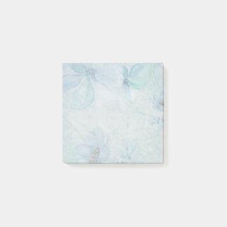 Watercolor-aquamarine Blumen-Post-Itanmerkungen Post-it Klebezettel