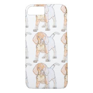 Watercolor-Beagle-Welpen-Hund iPhone 7 Hülle