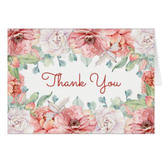 Watercolor-Blume danken Ihnen zu kardieren Mitteilungskarte