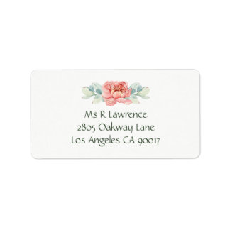 Watercolor-Blumen-Adressen-Etiketten Adressaufkleber