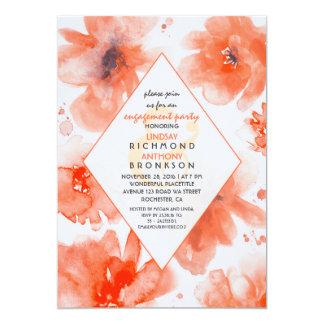 Watercolor-Blumen-Blumenstrauß-Verlobungs-Party 12,7 X 17,8 Cm Einladungskarte