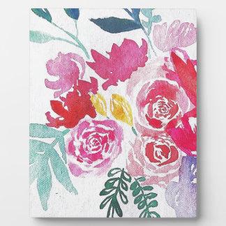 Watercolor-Blumen Fotoplatte