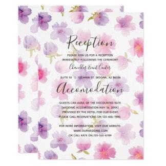 Watercolor-Blumen. Frühlings-Hochzeit. Richtung Karte