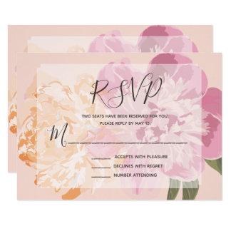 Watercolor-Blumen. Frühlings-Hochzeit. RSVP. Karte