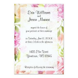 Watercolor-Blumen-Frühlings-Hochzeits-Einladung 8,9 X 12,7 Cm Einladungskarte