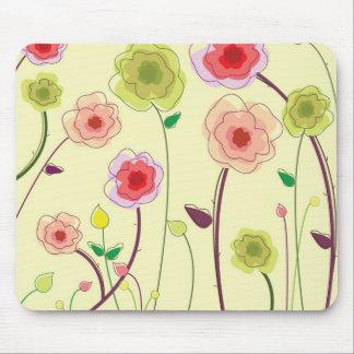 Watercolor-Blumen Mauspads