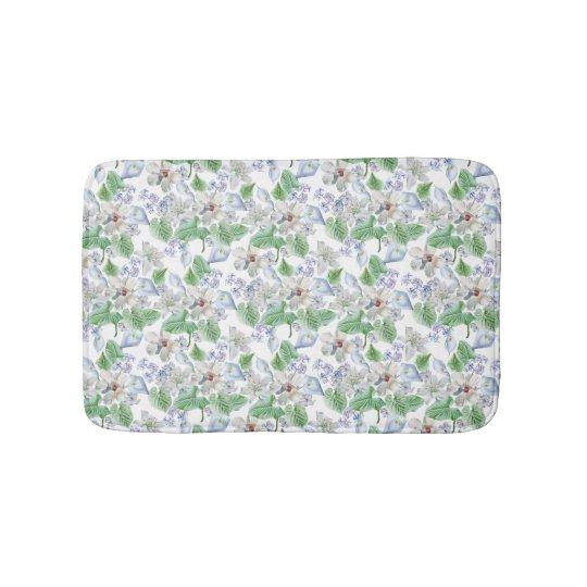 Watercolor-Blumen-Muster-Bad-Matten Badematte
