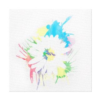 Watercolor-Blumen-Silhouette Leinwanddruck