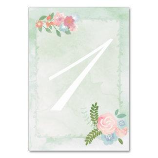 Watercolor-Blumen, tadellose grüne doppelseitige