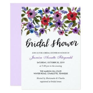 Watercolor-Blumenbündel-Brautparty 12,7 X 17,8 Cm Einladungskarte
