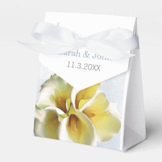 Watercolor Callalilien BlumenGastgeschenk Geschenkschachtel
