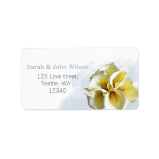 Watercolor Callalilien-Rücksendeadresseaufkleber Adressetikett