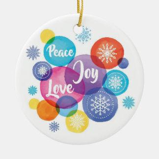 Watercolor des Weihnachten| - Keramik Ornament