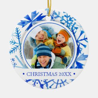 Watercolor des Weihnachten| - lassen Sie es Keramik Ornament