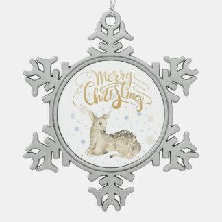Watercolor des Weihnachten| - niedliches Schneeflocken Zinn-Ornament